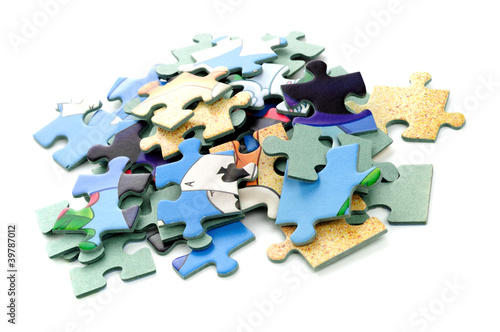 Puzzle - white background
