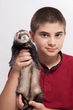 Child with ferret