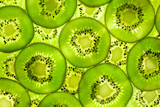 Fototapety Fresh Kiwi pattern / background / back lit