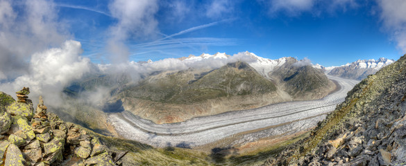 Aletsch glacier panorama, Switzerland