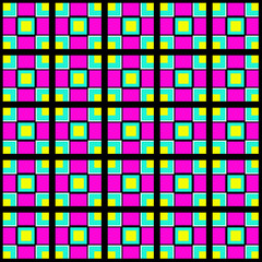 Pattern of colored squares