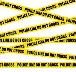Police lines. Do not crosss. Crime scene background.