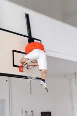 Climbing on a basket