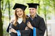 graduate students on grass