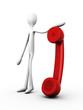 Telefonhörer halten