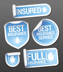 Insurance service stickers