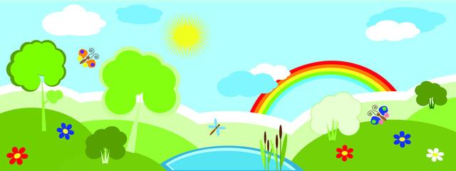 Nature banner, summer.