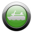 "Green Metallic Orb Button ""Cruise Liner"""