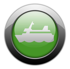 "Green Metallic Orb Button ""Cruise Liner"""