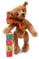 Teddy Bear with Sale toy blocks