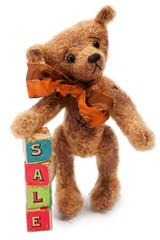 Teddy Bear with Sale toy blocks