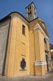 Carate Urio _ Lago di Como _ Chiesa dei SS. Giacomo e Filippo poster