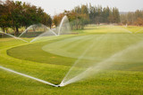 Watering in golf course