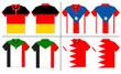 Flag Polo shirt designs international. Vector template