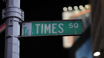 Times Square Street Sign in New York