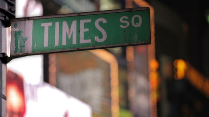 TImes Square Street Sign in New York City