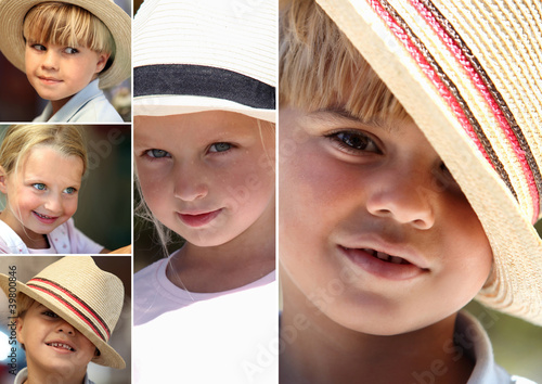 Children wearing hats