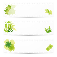 green leaves background set