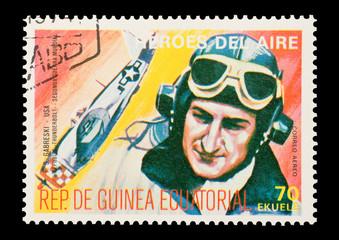 Equatorial Guinea, circa 1974 - WW2 pilot Gabby Gabreski