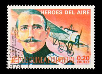 Equatorial Guinea, circa 1974 - WW1 pilot Alexander Kazakov