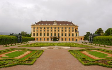 The beautiful Schonbrunn Palace, Vienna, Austria