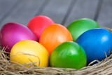 Lots of colorful easter eggs