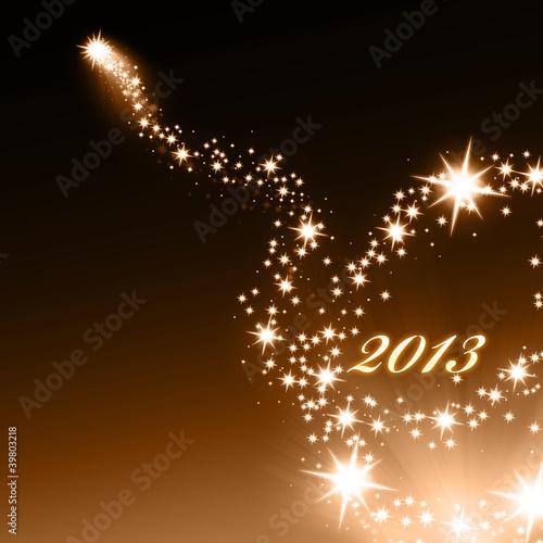 Goldenes Feuerwerk Hintergrund 2013