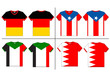 Flag T-shirt designs international. Vector template