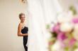 bride, bouquet and wedding dress
