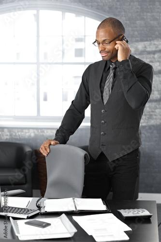 Businessman on call
