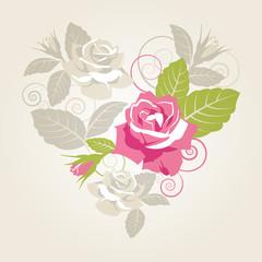 roses & heart