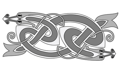 stylized snake coiled in a knot