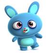 crazy blue bunny