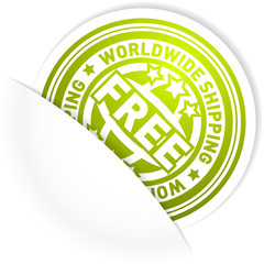 Worldwide shipping label