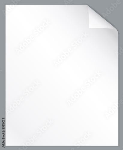 Blank sheet of paper.