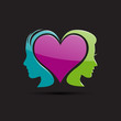 Logo a heart and a couple # Vector