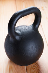 Large black cast iron weight