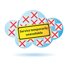 "Cloud Computing, ""Service temp. unavailable"""