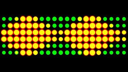 grüngelbes led licht