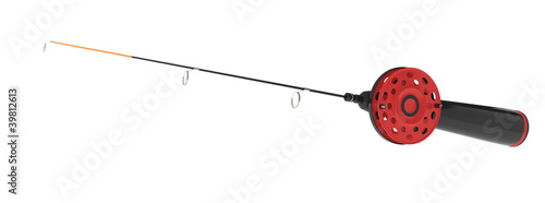 ice fishing rod isolated