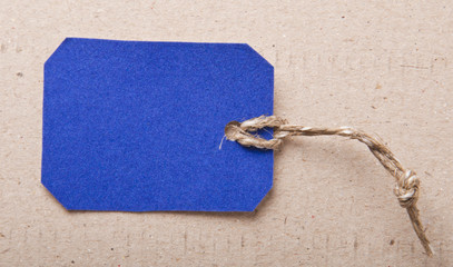 price tag on paper background