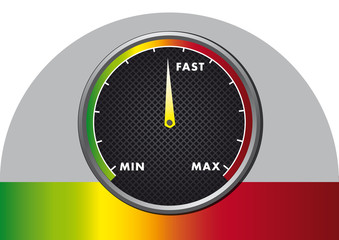 abstract speed meter illustration