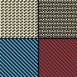 Carbon fiber, kevlar and decorative seamless patterns set