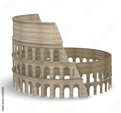 3d render of coloseum arena