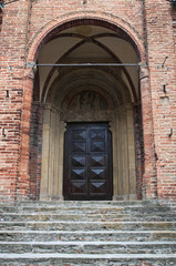 Collegiata Church. Castell'Arquato. Emilia-Romagna. Italy.