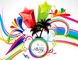 abstract colorful explode summer theme
