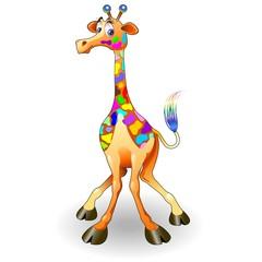 Giraffa Fantasia Psichedelica-Fantasy Colors Giraffe-Cartoon
