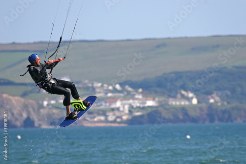 kitesurfer in Bigbury Bay