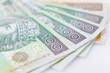 wachlarz pieniędzy close-up