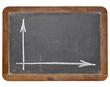 blank graph on blackboard